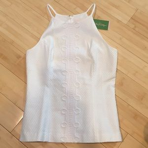 Lily Pulitzer nwt Sz 6 white embroidered tank